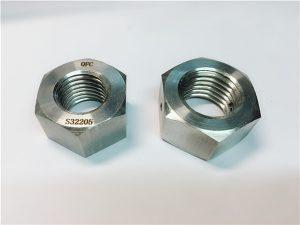No.76 Duplex 2205 F53 1.4410 S32750 rozsdamentes acél kötőelemek nehéz hexanyával