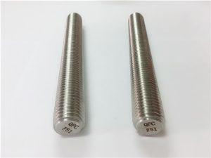 No.77 Duplex 2205 S32205 rozsdamentes acél rögzítőelemek DIN975 DIN976 menetes rudak F51