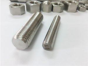 No.81-F55 Zeron100 rozsdamentes acél rögzítőelemek teljes menetes rúd S32760