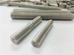 egyedi megmunkálással ellátott rozsdamentes acél rögzítőelemek kettős végű menetes rúd